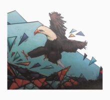 Eagle on broken glass Kids Tee