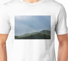 Bands and Rainbows - Lush Mountains After a Summer Rain Unisex T-Shirt