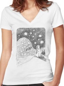 Leviathan I Women's Fitted V-Neck T-Shirt