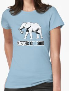 3 Eye Elephant Womens Fitted T-Shirt