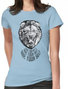Save Your Self - Lion Womens Fitted T-Shirt