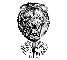 Save Your Self - Lion Photographic Print