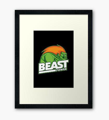 Beast Power Framed Print