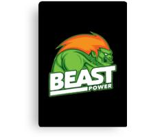 Beast Power Canvas Print