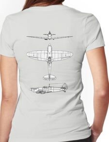 British, Supermarine, Spitfire, Supermarine, Spitfire,  Fighter, WWII, 1942, Fighter, WWII, 1942, on GREY Womens Fitted T-Shirt