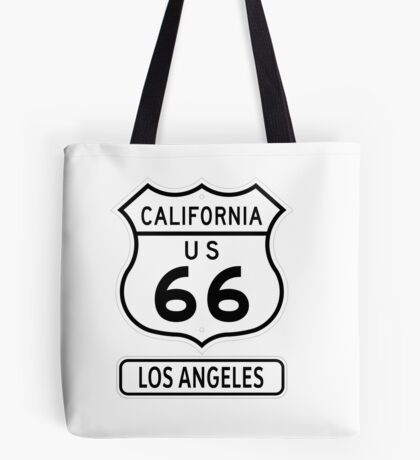 Historic Route 66 - The Mother Road - Los Angeles Tote Bag