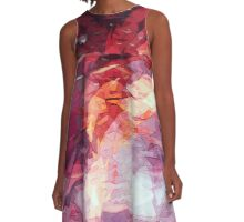 abstract fall A-Line Dress