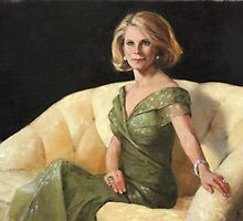 Rena, Oil, 24 x 36 by Chris Saper