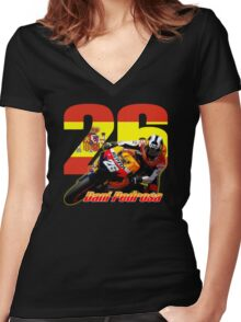 Dani Pedrosa Women's Fitted V-Neck T-Shirt