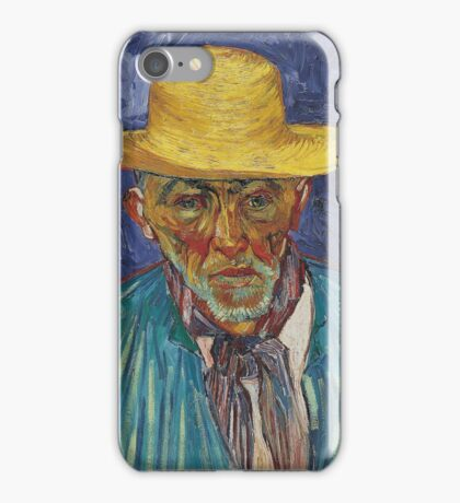 Vincent Van Gogh - Portrait Of Patience Escalier, Shepherd In Provence, 1888 iPhone Case/Skin