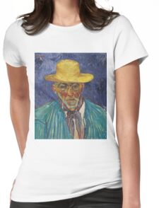 Vincent Van Gogh - Portrait Of Patience Escalier, Shepherd In Provence, 1888 Womens Fitted T-Shirt