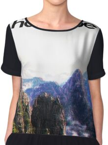 Harambe Mountains Movie Poster Chiffon Top