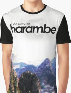 Harambe Mountains Movie Poster Graphic T-Shirt