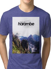 Harambe Mountains Movie Poster Tri-blend T-Shirt
