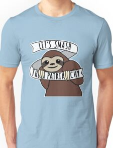 "Feminist Sloth ""Smash the Patriarchy"" Unisex T-Shirt"