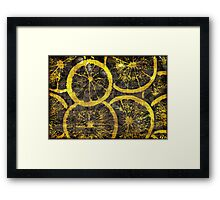 Graphic, Oranges, Yellow (Wallpaper, Background) Framed Print