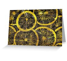 Graphic, Oranges, Yellow (Wallpaper, Background) Greeting Card