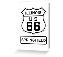 Historic Route 66 - The Mother Road - Springfield Illinois Greeting Card