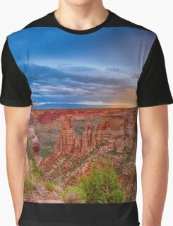 Colorado National Monument Evening Storms Graphic T-Shirt