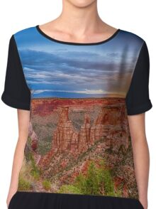 Colorado National Monument Evening Storms Chiffon Top