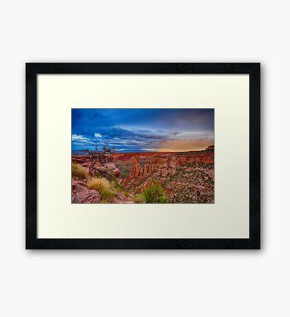 Colorado National Monument Evening Storms Framed Print