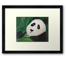 Content Panda Framed Print