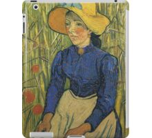 Vincent Van Gogh - Peasant Girl With Yellow Straw Hat, 1890 iPad Case/Skin