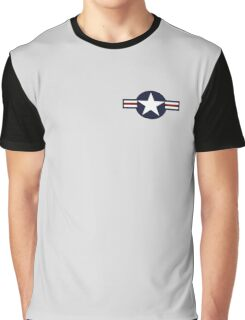 AIR FORCE, AMERICAN, USAF, Roundel, United States Air Force, aircraft, United States Navy, United States Marine Corps Graphic T-Shirt