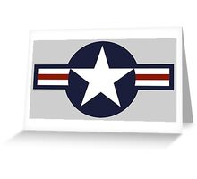 AIR FORCE, AMERICAN, USAF, Roundel, United States Air Force, aircraft, United States Navy, United States Marine Corps Greeting Card