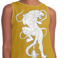 Tiger with Pearls Contrast Tank