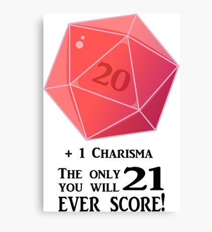 D20 - The Only Score Canvas Print