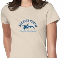 Arcadia Beach - Oregon. Womens Fitted T-Shirt