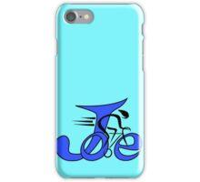 Joe bike blue iPhone Case/Skin