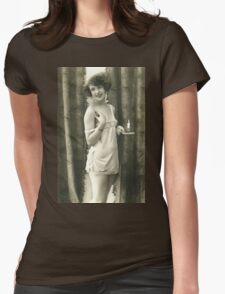 Portrait of a 20s Lady vintage photograph Womens Fitted T-Shirt