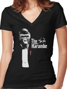 The Harambe Women's Fitted V-Neck T-Shirt