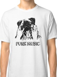 Punk Music Dog Classic T-Shirt