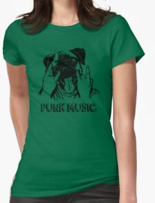 Punk Music Dog Womens Fitted T-Shirt