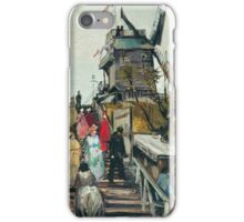 Vincent Van Gogh - Le Moulin De Blute-Fin, 1886 iPhone Case/Skin