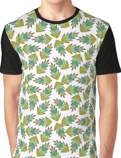 motif feuilles d'automne tons de vert Graphic T-Shirt