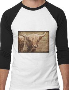 Highland Cow Men's Baseball ¾ T-Shirt
