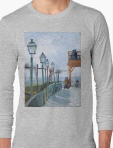 Vincent Van Gogh - Montmartre - Terrace And Observation Deck At  Moulin De Blute-Fin, 1886 Long Sleeve T-Shirt