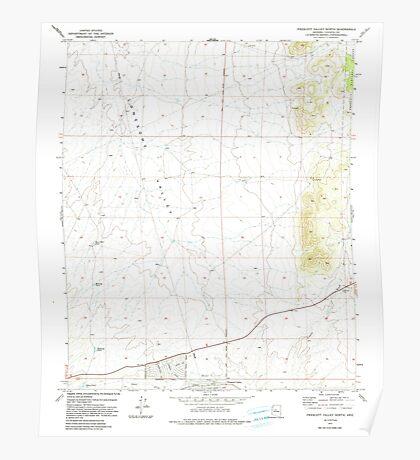 USGS TOPO Map Arizona AZ Prescott Valley North 312989 1973 24000 Poster