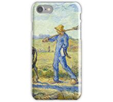 Vincent Van Gogh - Morning, Going To Work, 1890 iPhone Case/Skin