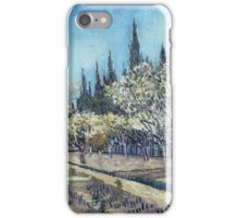 Vincent Van Gogh - Orchard In Blossom, Bordered By Cypresses, 1888 01 iPhone Case/Skin