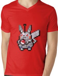 Robot Pikachu Mens V-Neck T-Shirt