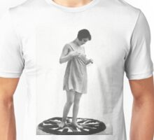 Lady standing on a rug Vintage photograph Unisex T-Shirt