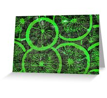 Graphic, Oranges, Green (Wallpaper, Background) Greeting Card