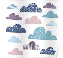 Silly happy clouds Poster