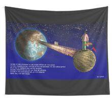 La Lune DD tapestry/tenture + Texte FR © E.Tchijakoff Wall Tapestry