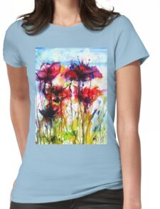 Poppy Love Womens Fitted T-Shirt